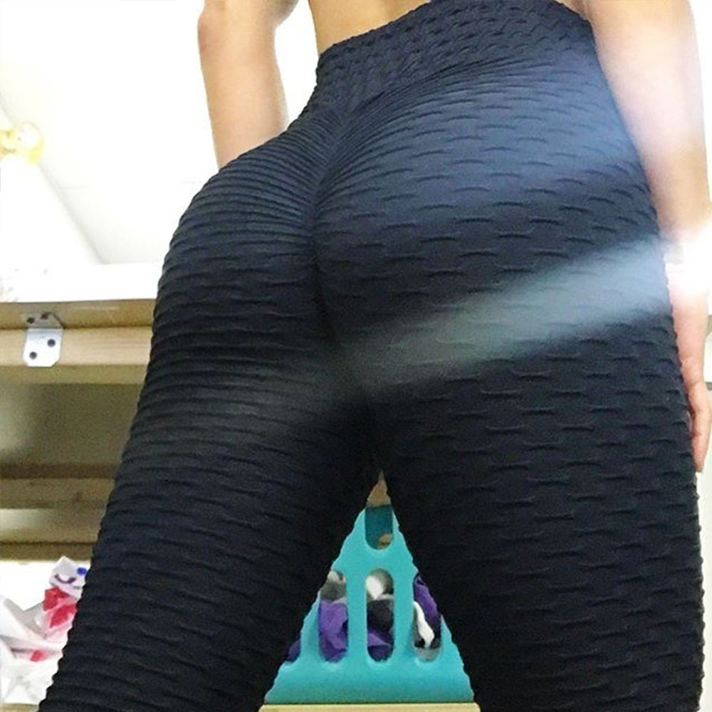 New Solid Sexy Push Up Leggings Women Fitness Clothing High Waist Pants Female Workout Breathable Skinny Black Leggings 14