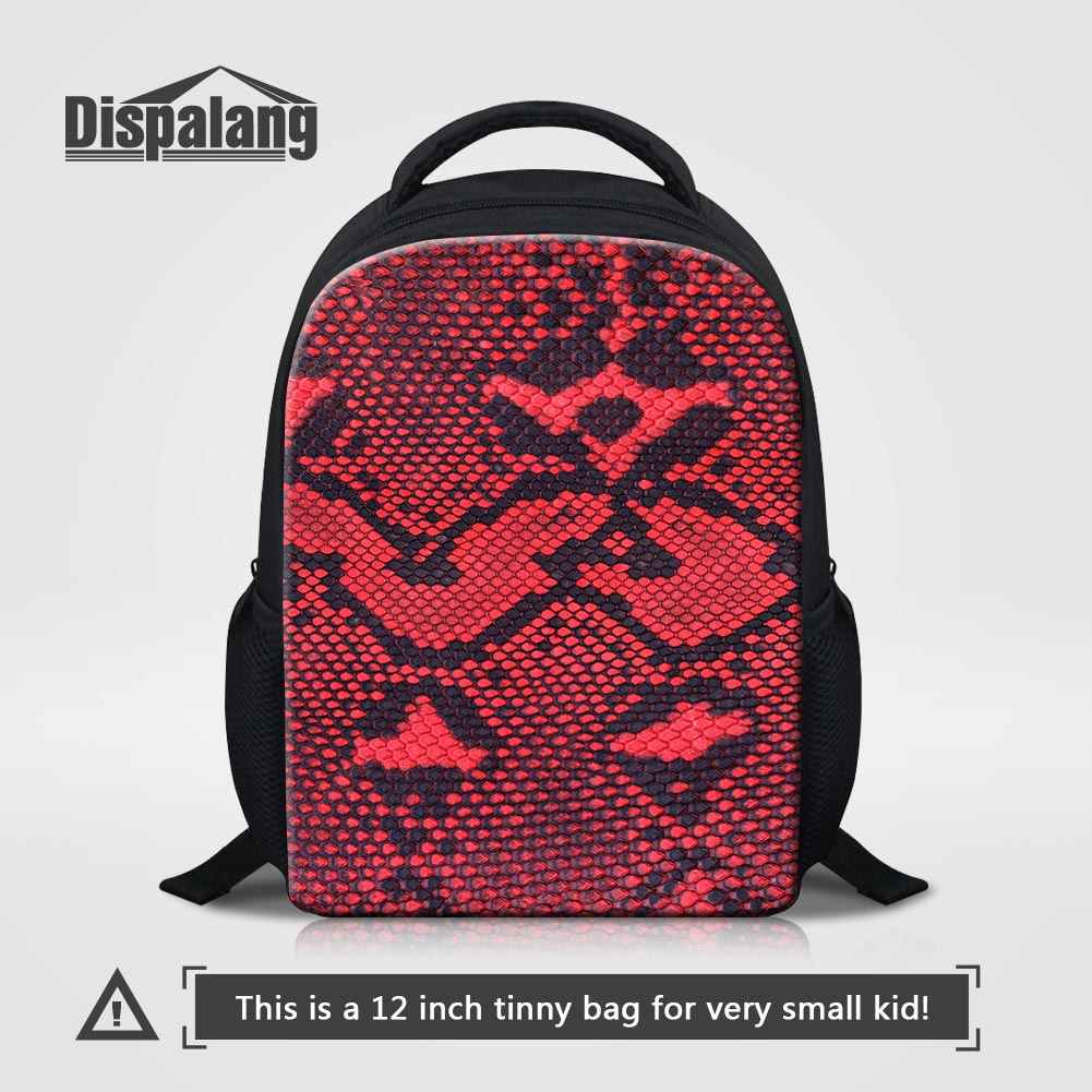 Dispalang Animal Snake Skin Printing Kids School Bags 12 Inch Small Backpack  For Little Boys Children f601bbd5e63e4