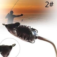 Hot Simulation Fishing Lure Soft Rubber Plastic Mouse/Rat Bait Tackle Hook 2#