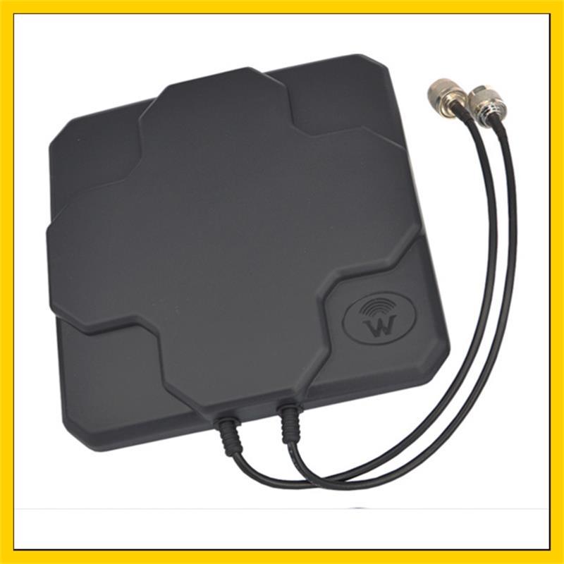 2 * 22dBi extérieur 4G MIMO antenne LTE double panneau de polarisation antenne N connecteur mâle (blanc ou noir) câble 20 cm