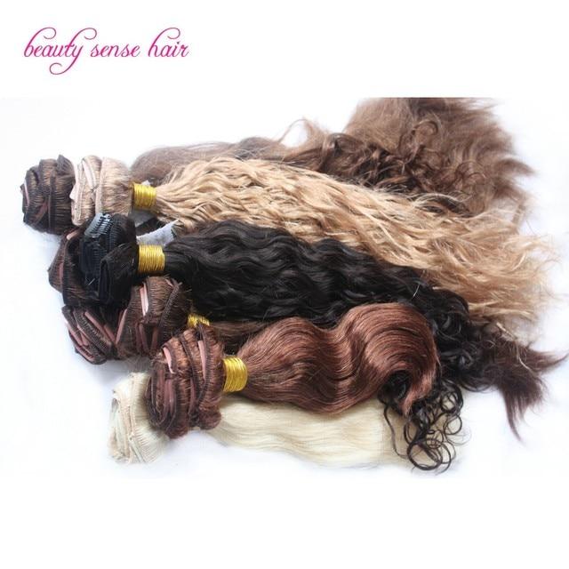 Hermosa Rizado Extensiones de cabello precio barato 100% virginal del pelo humano Clip en Las Extensiones 8A alta calidad Brasileña virginal del pelo
