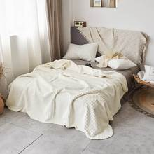 Papa&Mima 3D Solid Color Beige Winter warm Throws Thread Blanket thick Bedcover Sherpa Polyester Twin Queen Bedspread(China)
