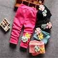 Newborn Infant Winter Warm Leggings Baby Girl Flower Dot Princess Warm Cotton Pants Kids Velvet Thicken Trousers Clothes