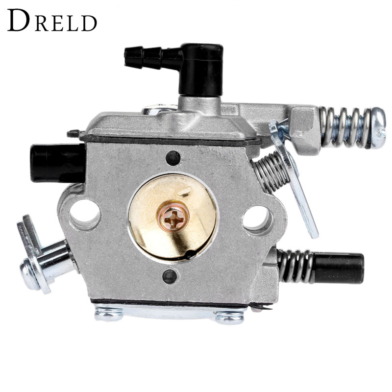 цена на DRELD 45cc 52cc 58cc Chainsaw Carburetor Carb for 4500/5200/5800 Chinese Chainsaw Spare Parts Aluminium alloy Garden Tool Parts