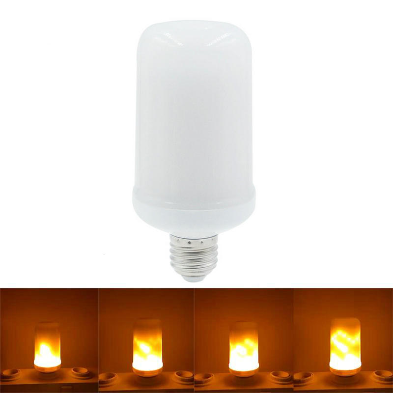 BUYBAY E27 LED Flame Effect Fire Light Bulbs 7W Creative Flickering Emulation Atmosphere Decorative Flame Lamps