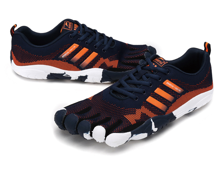 Hommes cinq Doigts de GYMNASTIQUE En Plein Air chaussures de marche hommes Antidérapant maille respirant anti-dérapant escalade trekking 5 Orteils baskets
