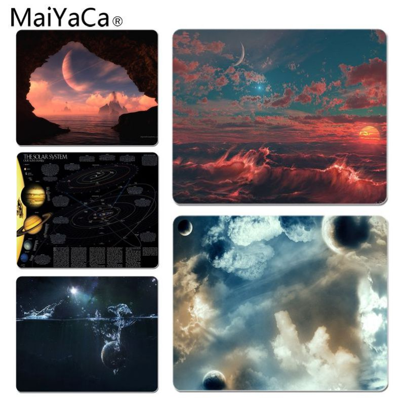 MaiYaCa Planets Large Lockedge Mouse pad PC Computer mat Size for 25x29x0.2cm Gaming Mousepads