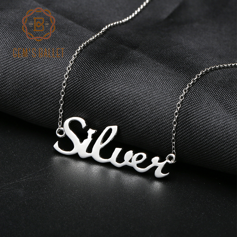 Gem's Ballet Arabic Name Necklace Etsy 925 Sterling Silver Choker Personalized Nameplated Necklaces & Pendants Custom Jewelry