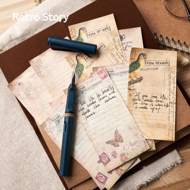 Memo Pad Set Non Sticky Retro Note Pack Simple Memo | 3 Pattern per Set Japanese Onion Paper Memo Note Vintage Message Notepad -