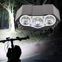 7500 LM Farol MTB Road Bike Front Lights Rechargeable T6 LED Mountain Bicycle Headlight Aluminum alloy Cycling LED Warning Light