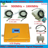 LCD Display GSM 900 4G LTE 1800 Dual Band Repeater 65dB GSM DCS Cellular Amplifier Mobile