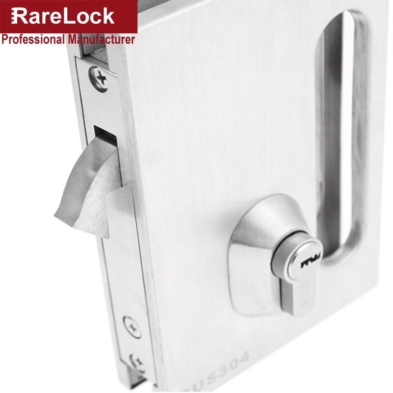 Online Shop Rarelock Christmas Supplies Glass Sliding Door Latch Lock  SUS304 For Women Dress Bag Store Door Office DIY I | Aliexpress Mobile