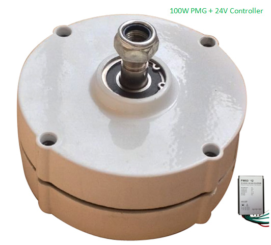 Hot Sale 100w 24v brushless permanent magnet generator with regulatorHot Sale 100w 24v brushless permanent magnet generator with regulator