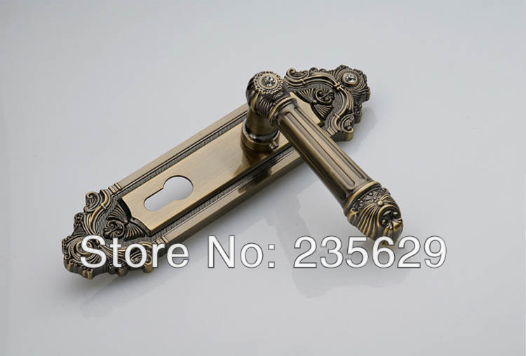 Free Shipping, European style Entrance Villa Door Lock, double bolts mortise lock , Antique Brass finished lock brass material entrance lock antique brass antique copper coffe finish