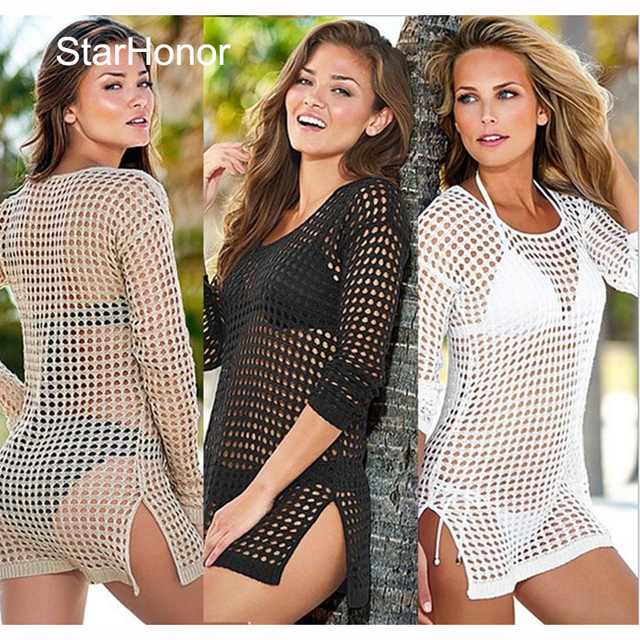 80f10135d0 StarHonor Sex Woman Push Up Knitting Swimsuit Hollow Crochet Bathing Suit  Cover-Up Bikinis Set