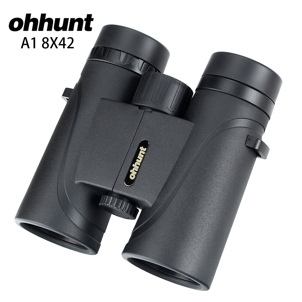 ohhunt A1 8X42 Binoculars Waterproof Fogproof Telescope Wide-angle Powerful Bright Hunting Optics Camping Hiking Binocular ohhunt a1 8x42 binoculars telescope hunting optics bak4 porro prism waterproof binocular with dust cover hiking outdoor camping