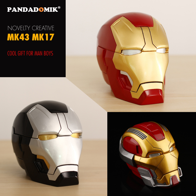 Pandadomik Novelty Resin Iron Man Toy Figure Model Ashtray Piggy Bank Cool Decoration Creative Gift for Man Toys Hobbies