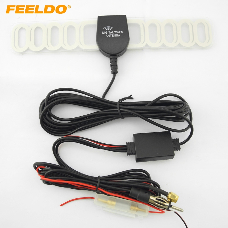FEELDO 5Set Car 2IN1 SMA/FM Connector Car Digital TV Antenna and Raido Antenna #FD-2045