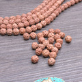 108 pcs/lot 8mm Natural Rudraksha Seed Tibetan Buddhism mala Beads For yoga mala jewelry making supplies Small hole