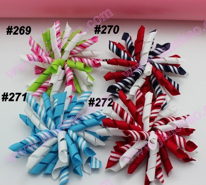 45 шт. 3.5 дюйм(ов) Korker луки(шить) разноцветные korker волосы бант Красочные девушка заколки korker клипы