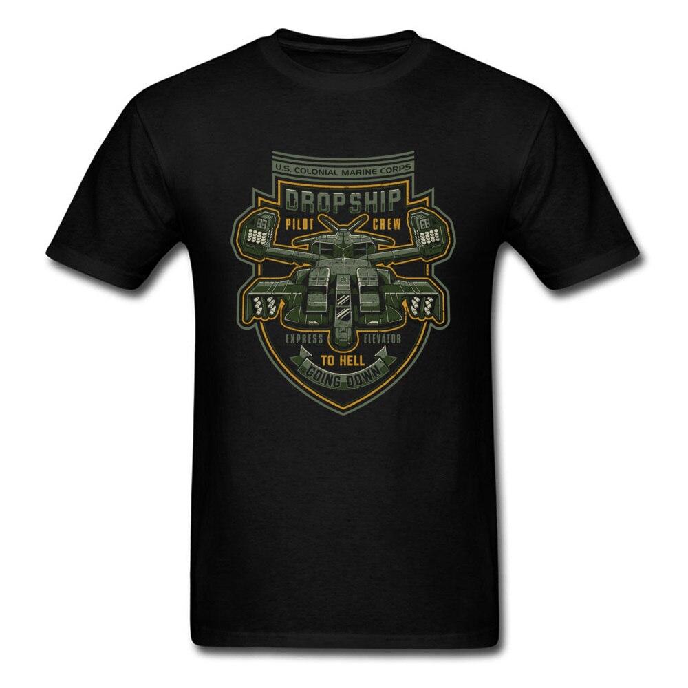 High Full Man's Tshirt Designers Printing O-Neck S T Shirt Men Express Elevator To Hell T-Shirt