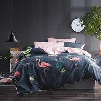 2018 Flamingo Bedding Sets King Size Jogo De Cama Drap De Lit Small Fresh Cotton Bed