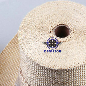 Image 5 - Beige Exhaust Muffler Pipe Header Heat Resistant Exhaust Wrap 10m x 2inch With Cable Ties