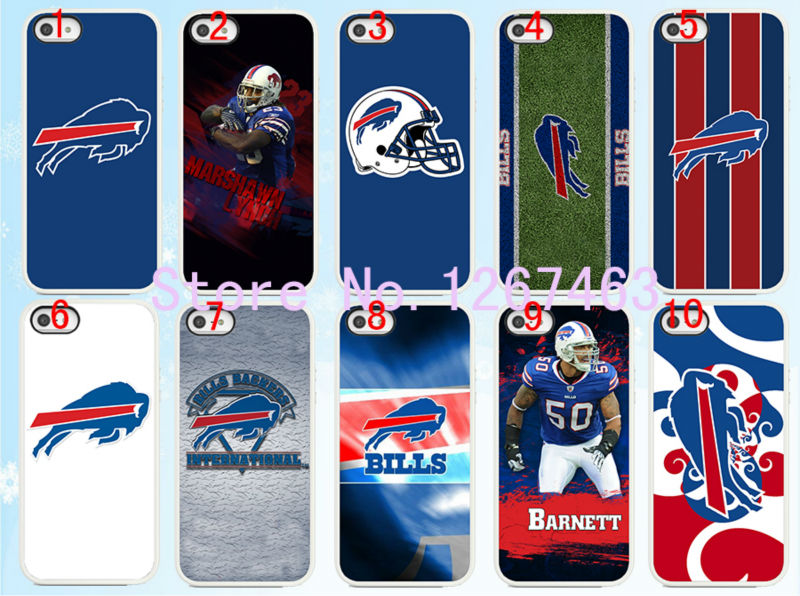 best website 0f5a3 648b1 Hot sales 10pcs/lots NFL Buffalo Bills LOGO hard White Skin ...