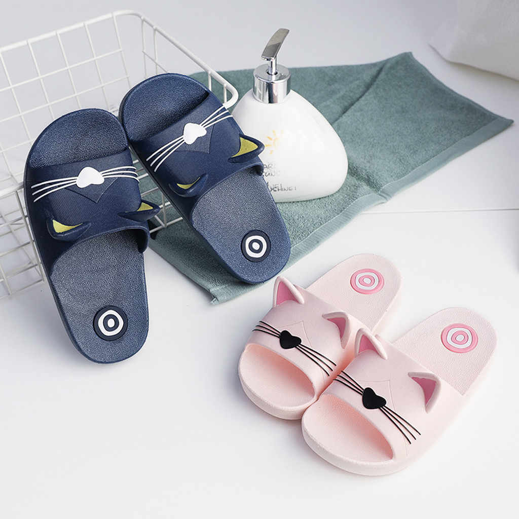 children shoes girl Home Slippers Cartoon slippers girls summer Cat Floor Family slippers girl child Beach Sandals 2019(US size)
