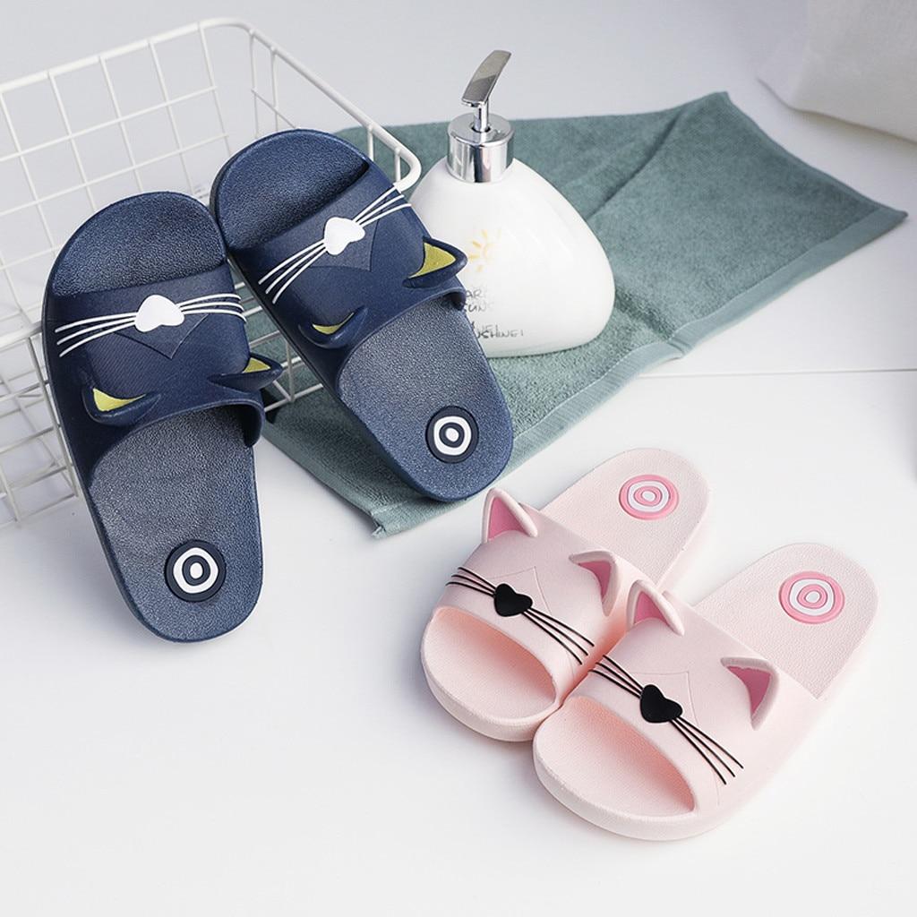 Children Shoes Girl Home Slippers Cartoon Slippers Girls Summer Cat Floor Family Slippers Girl Child Beach Sandals 2019(US Size)