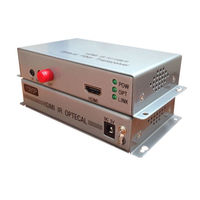 1080 P HDMI Волокно оптический Media Converter с ИК сигнала HDMI Волокно 20 км