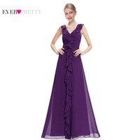 Prom Dresses Free Shipping 2015 New Arrival Elegant Stylish Ruffled Lilac Purple Sleeveless V Neck Maxi