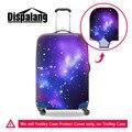 Viajar na estrada bagagem capa protetora galaxy star universo espaço elástico grosso cobertura de bagagem em aplicar para 18-30 polegada mala