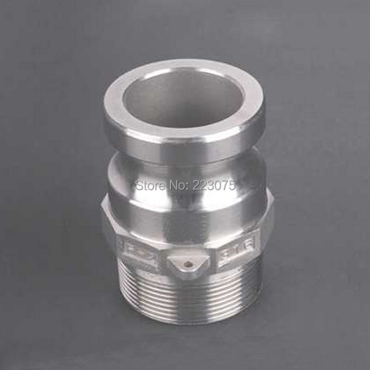 Free shipping SS304 Stainless Steel CAM LOCK CAMLOCK&Groove TYPE F COUPLER Male to 2 NPT Male Adapter Home Brew