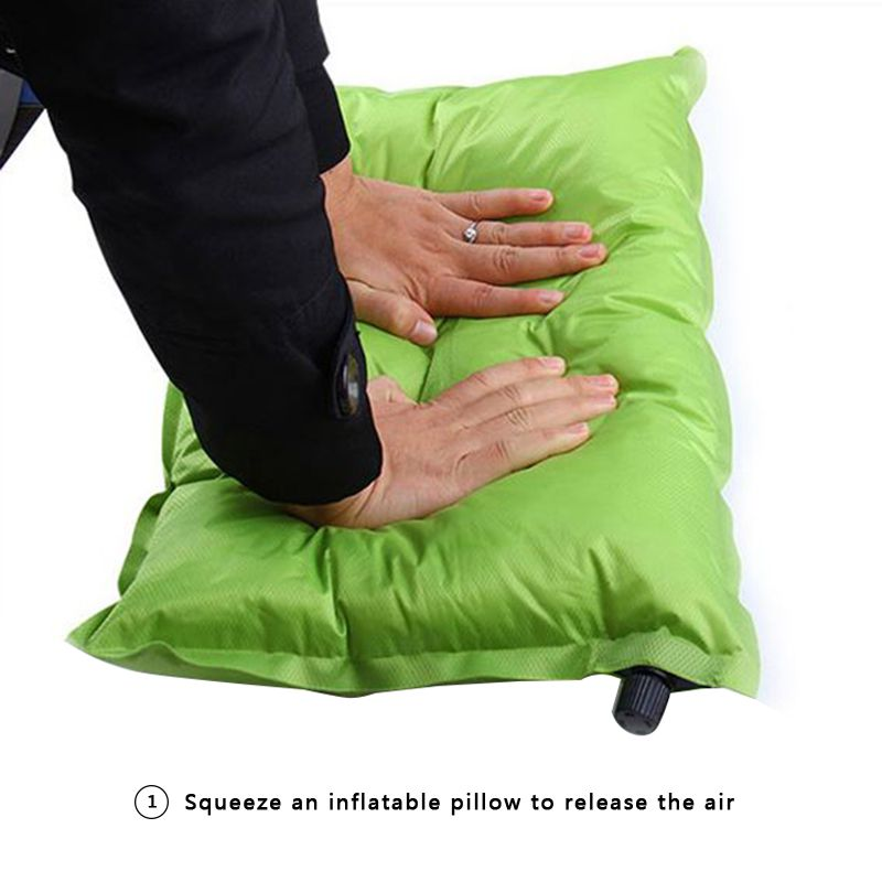 Camping Equipment Automatic Inflatable Pillow Camping Pillow Inflatable Travel Pillow Large Portable Break Pillow Accessories