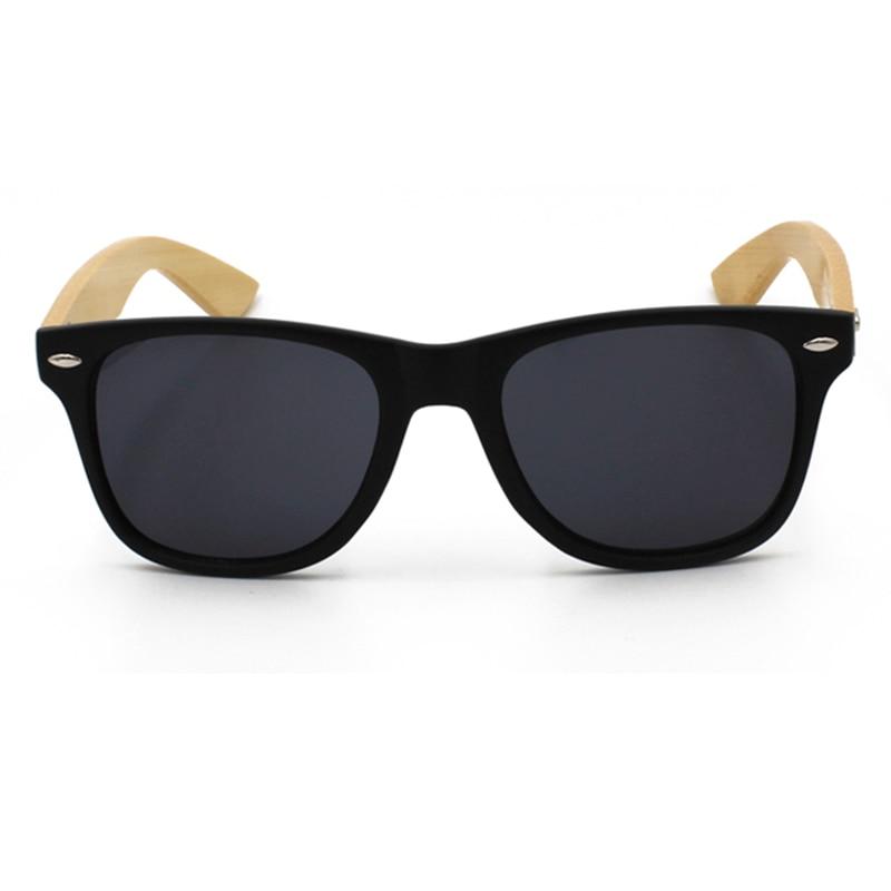 La vie merek retro bambu kayu sunglasses pria wanita uv400 lensa - Aksesori pakaian - Foto 5