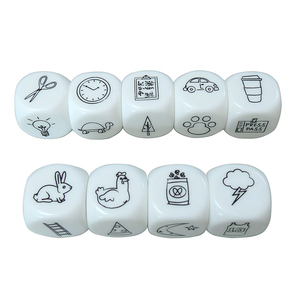 9 Pcs Dice Telling Story Dice Board Games Toys for Children Baby Family Parents Party Funny Imagine Educational Magic Toy Puzzle(China)