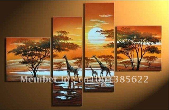 Free Shipping African Art Paintings For Living Room Online Hot Whole Now
