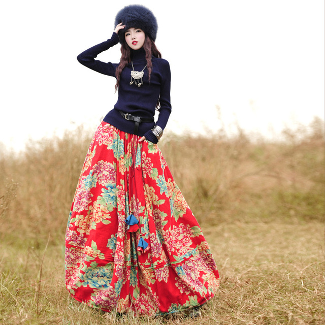 Aliexpress.com : Buy Top Sale Bohemian Style Skirt Big Ball Cotton ...