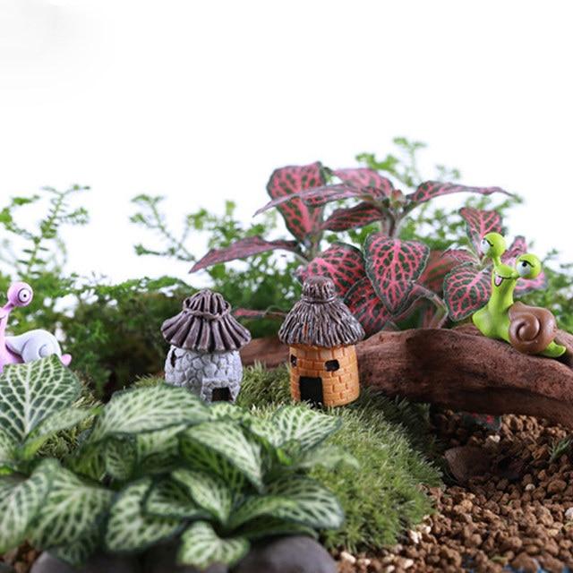 Vintage Craft Hot Sale 1PC Artificial Mini Micro Landscaping Miniature House Popular Garden Decoration Home Decoration 6