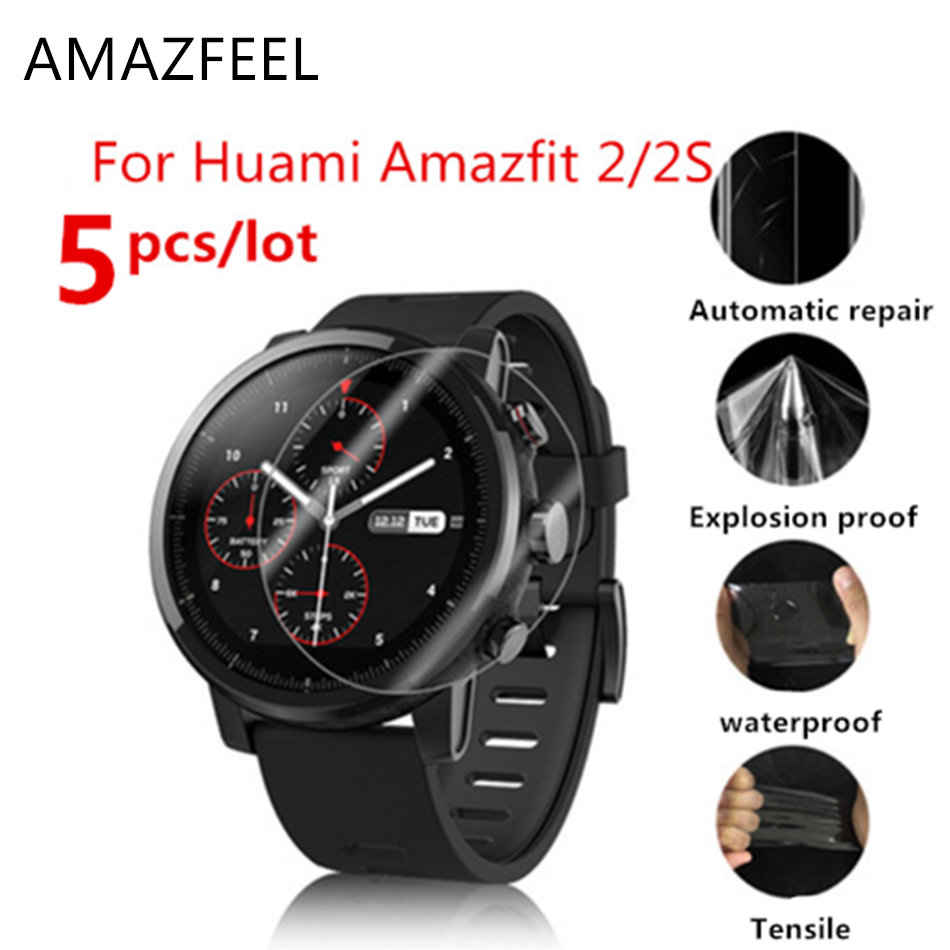 10PCS/wholesale Original For Xiaomi Huami Amazfit Stratos 2 /Stratos 2S Screen Protectors Ultra-thin Protective Film Full HD TPU