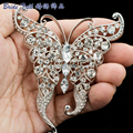 ON SALE Butterfly Brooches Crystals Rhinestone Animal Pins Broaches for Women Jewelry Accessories Gifts 3683