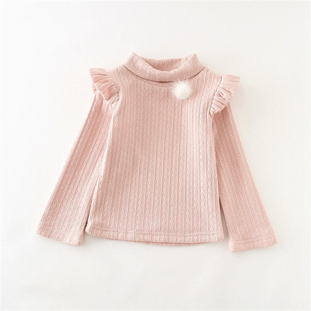2017 New Spring Autumn Children Clothing Coat Girls Clothes Sweater Fashion Solid Color Bubble Sleeve Velvet Coat For Female