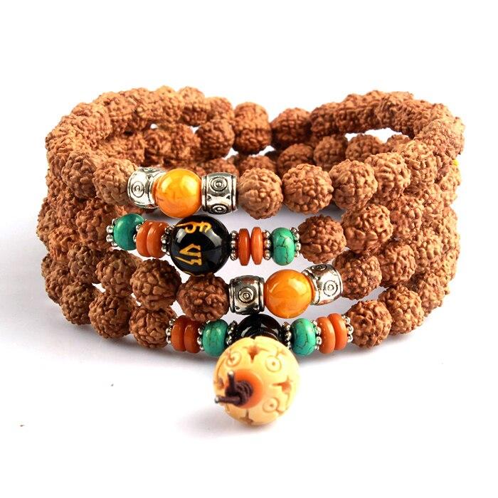 Kumgang naturel bodhi fils 6 perles bracelet 108 court pile bracelets mâle Femmes
