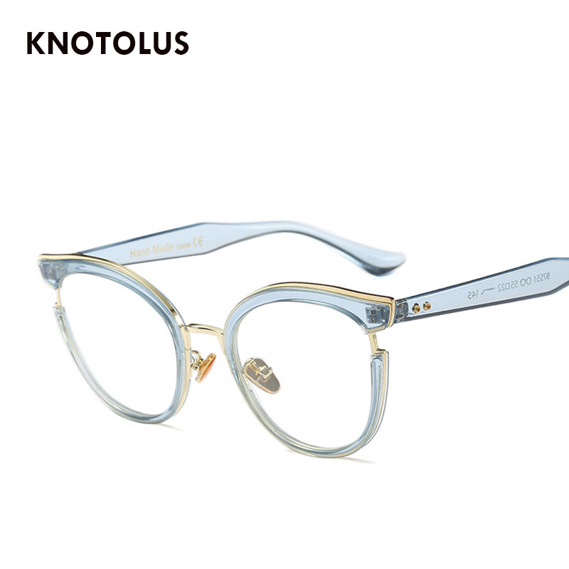 e8b2285af9cf Knotolus 2018 New Women Clear Lens Sunglasses Ladies Fashion Luxury Cateye  Sun Glasses Transparent Reading Eyeglasses Oculos-in Sunglasses from Women s  ...
