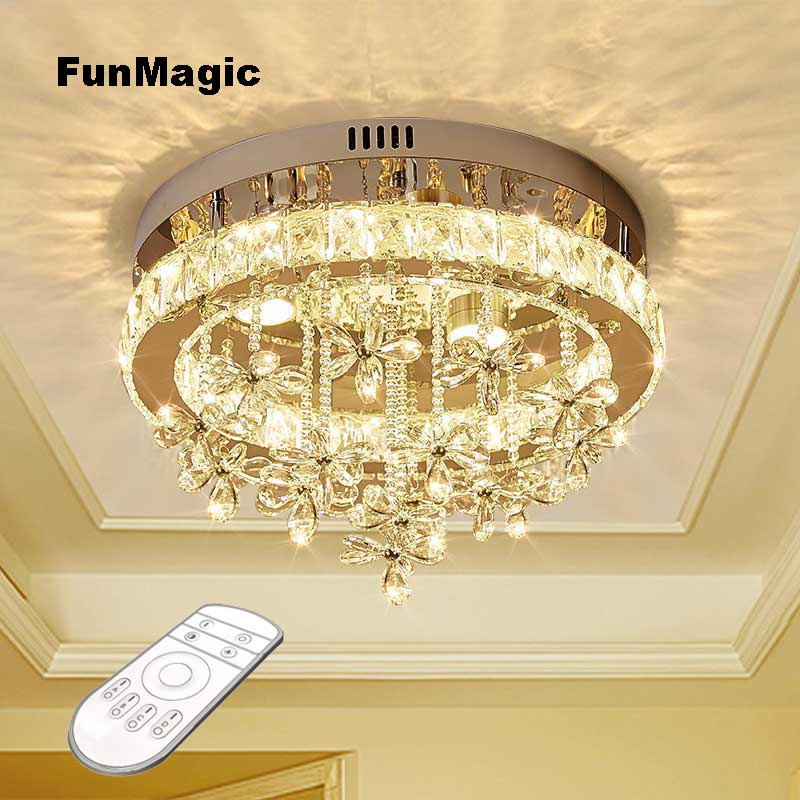 Romantic Modern LED Clear Crystal Ceiling Light Fixture Aisle Chandelier Bedroom Pendant Lamp Hallway Entrance Dimming LightingRomantic Modern LED Clear Crystal Ceiling Light Fixture Aisle Chandelier Bedroom Pendant Lamp Hallway Entrance Dimming Lighting