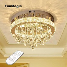 Romantic Modern LED Clear Crystal Ceiling Light Fixture Aisle Chandelier Bedroom Pendant Lamp Hallway Entrance Dimming Lighting