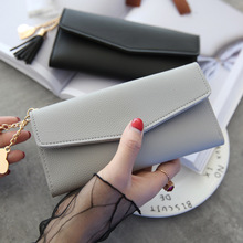Модный чехол-бумажник с Для женщин кисточкой сердце простой молния сумочки женский длинный кошелек раздел клатч кошелек из мягкой кожи клатч из искусственной кожи, сумочка для денег бу