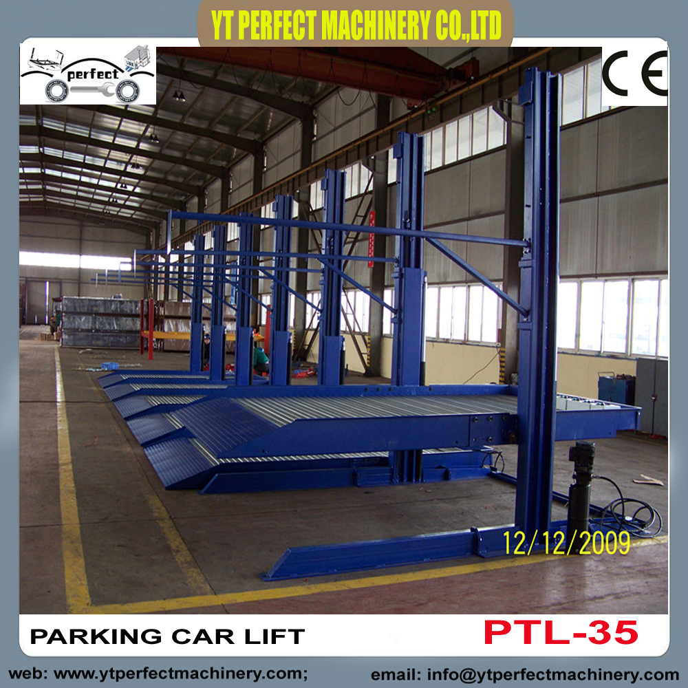 Double Car Parking Lift Automated Parking System Plt 35 In Car Jacks