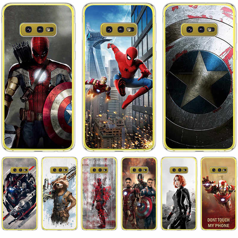 Luxe Marvel Avengers Deadpool pour Samsung Galaxy S6 S7 Edge S8 S9 S10 Plus Lite Note 8 9 housse Silicone Coque Etui Groot